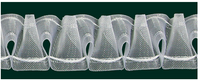 Gardinenband Vitragenband Smok volltransparent 35mm 1:2 001