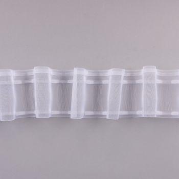 Gardinenband Wellenband Olymp mit Schlaufen volltransparent 1:2 – Bild 2
