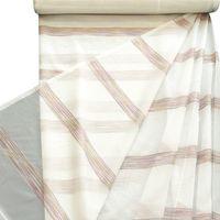 Gardinenstoff Stores Stores creme mit Streifen bunt pink 2,9m Höhe 001