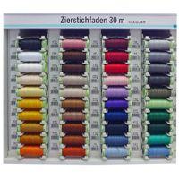 Zierstichfaden Farbnr. 650 Gütermann 30 Meter/Spule Knopflochgarn Stickgarn 001