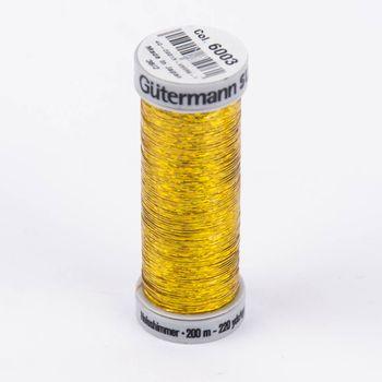 Gütermann SULKY Holoschimmer Metallic-Effektgarn Stickgarn Metalleffekt-Faden Farbnr. 6003 gold 200 m