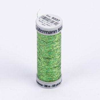 Gütermann SULKY Holoschimmer Metallic-Effektgarn Stickgarn Metalleffekt-Faden Farbnr. 6032 grün 200m
