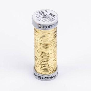 Gütermann SULKY Sliver Metallic-Effektgarn Stickgarn Metalleffekt-Faden Farbnr. 8003 hellgold 200m