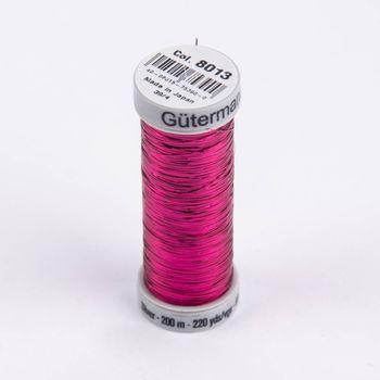 Gütermann SULKY Sliver Metallic-Effektgarn Stickgarn Metalleffekt-Faden Farbnr. 8013 pink 200m