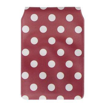 Karten Schutzhülle rot weiß Punkte 7x10cm