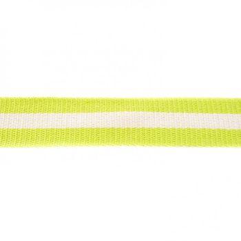 Gurtband lime mit Streifen weiß Breite: 4cm