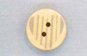 Holzknopf Maschinen waschbar rund 20mm Herz Streifen grau