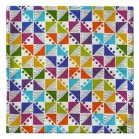 Schöner Leben Kissenhülle Dreiecke Kreise bunt 50x50cm 001
