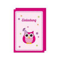 Einladungskartenset Little Owl 18teilig