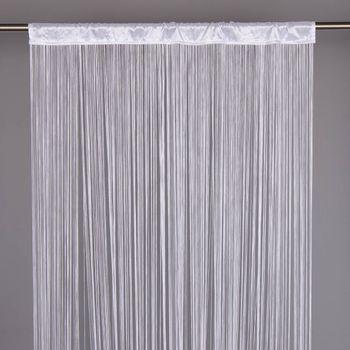 Fadenvorhang Türvorhang Fadengardine 100x250cm Waterfall weiß – Bild 1