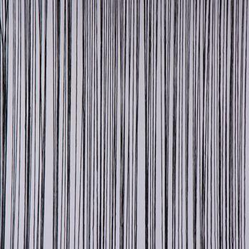 Fadenvorhang Türvorhang Fadengardine 100x250cm Waterfall schwarz – Bild 3