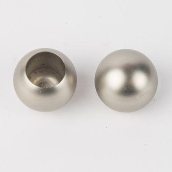 Serie NewYork Endstücke Ball 2 Stück Ø20mm edelstahl-optik