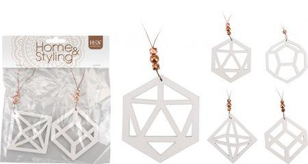 Hängedeko geometrisch weiß 2er Set