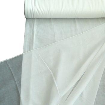Gardinenstoff Stores Batistoptik creme mit Bleiband 300cm hoch – Bild 1