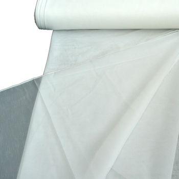 Gardinenstoff Stores Streifenoptik creme mit Bleiband 260cm hoch