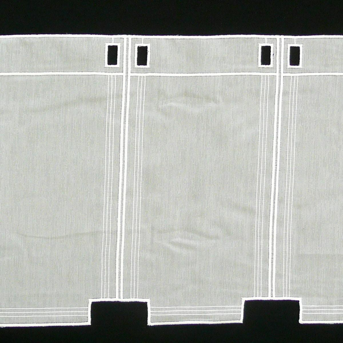 bistrogardine scheibengardine meterware voile stickerei creme 60cm h he ebay. Black Bedroom Furniture Sets. Home Design Ideas
