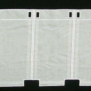 Bistrogardine Scheibengardine Meterware Voile Stickerei creme 60cm Höhe