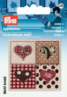 Prym Applikation Herzen Quadrat 5x5cm
