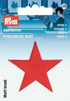 Prym Applikation Stern 2 Stück rot 4,5x4,5cm
