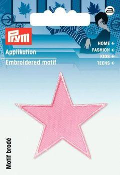 Prym Applikation Stern 2 Stück rosa 4,5x4,5cm