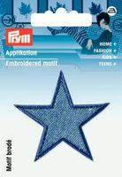 Prym Applikation Stern 2 Stück jeansblau 4,5x4,5cm
