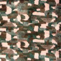 Fell Kunstfell Flausch Stoff Flecken schwarz grau rosa