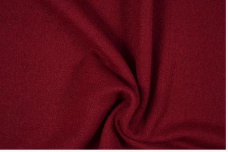 Bekleidungsstoff Walkloden Wolle dunkelrot Meterware