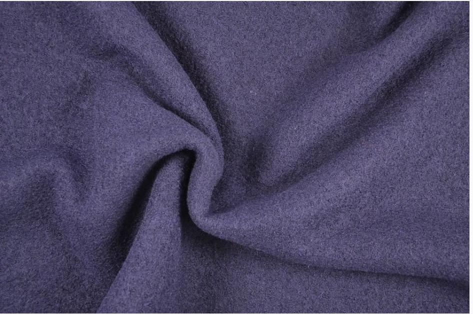Mantelstoff Bekleidungsstoff Walkloden Wolle blau Meterware