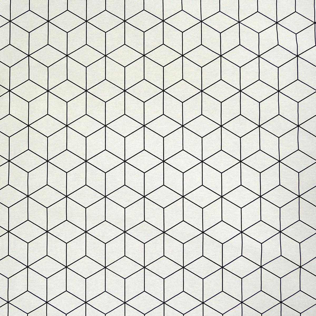 dekostoff geometrisches muster cremewei schwarz 138cm meine der gardinen. Black Bedroom Furniture Sets. Home Design Ideas