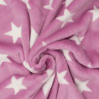 Wellness Nicki Fleece Stoff rosa weiß Sterne 001