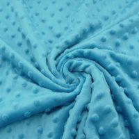 Fleece Minky dots Noppen aqua blau Kuschel Flausch