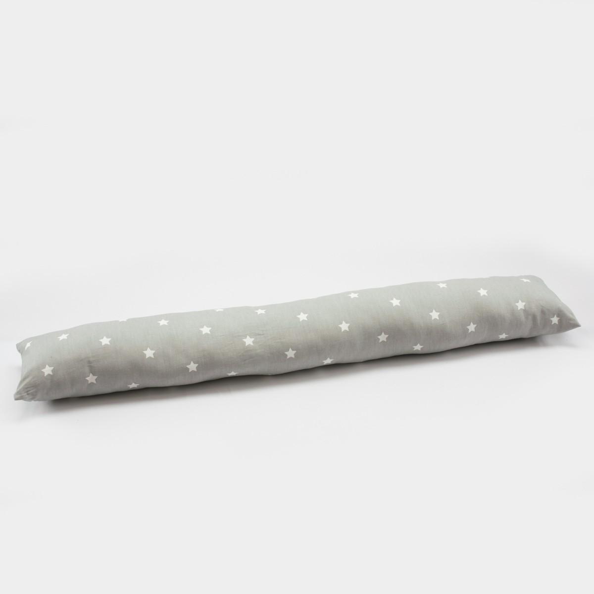 Zugluftstopper Punkte grau weiß 80 bis 130cm lang