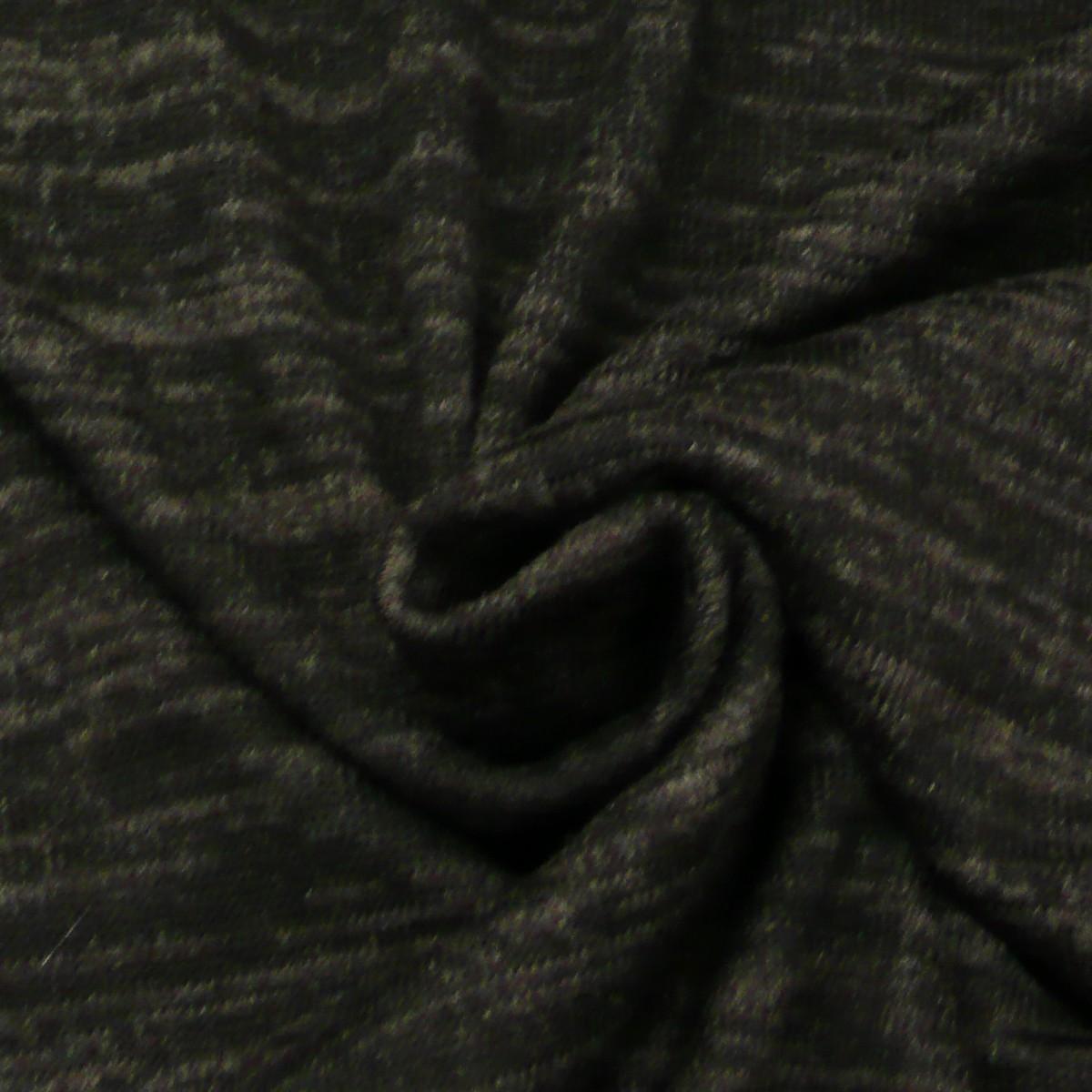 Strickstoff schwarz meliert 1,50m Breite