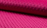 Fleece Minky dots Noppen pink Kuschel Stoff Flausch