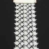 Borte Spitzenborte Tischläufer Sterne creme Meterware Breite 25cm 001