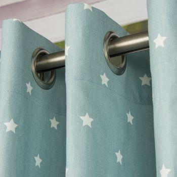 Ösenschal Twinkle Sterne graublau 245cm oder Wunschlänge – Bild 1