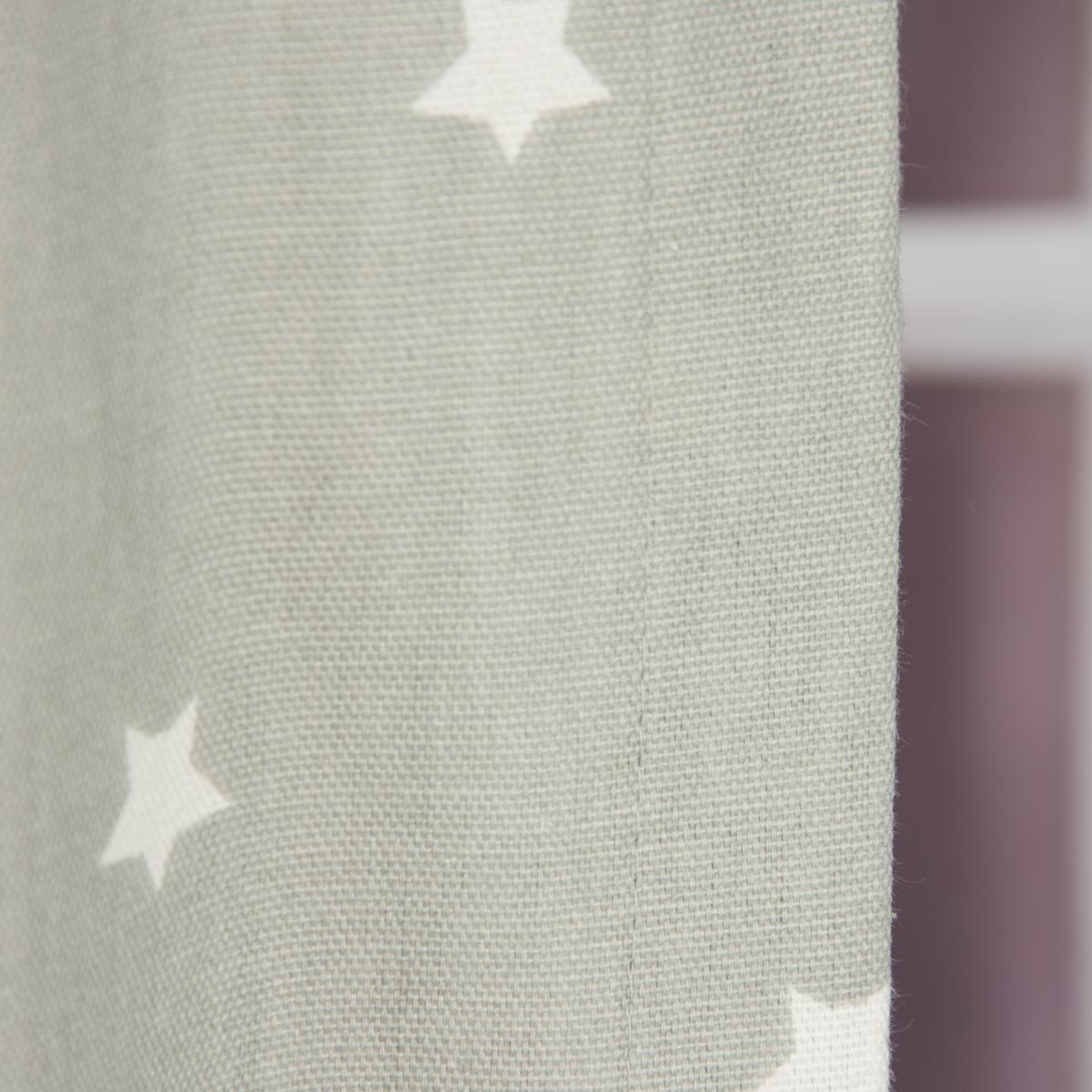 senschal twinkle sterne grau 245cm oder wunschl nge fertiggardinen senschals. Black Bedroom Furniture Sets. Home Design Ideas