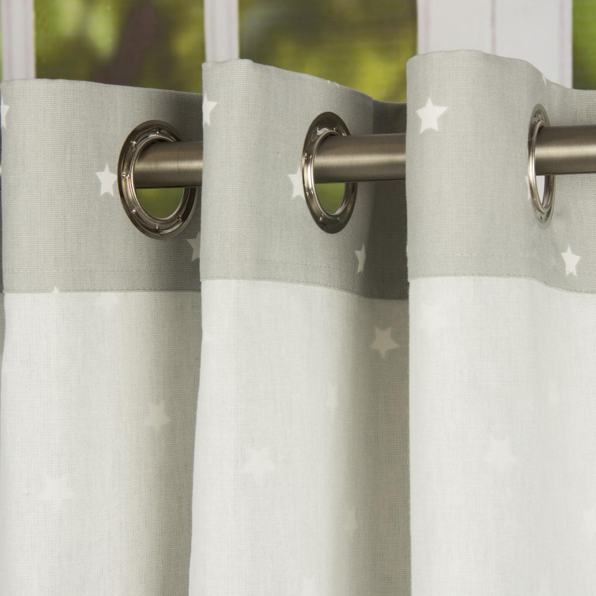 senschal twinkle sterne grau 245cm oder wunschl nge gardinen fertiggardinen senschals. Black Bedroom Furniture Sets. Home Design Ideas