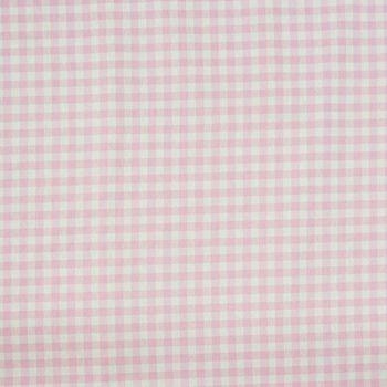 Dekostoff kariert rosa weiß Karogröße ca.1,4cm  – Bild 1