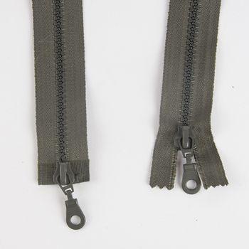 Prym Zweiwege Reißverschluss Kunststoff grau Länge: 80cm – Bild 3