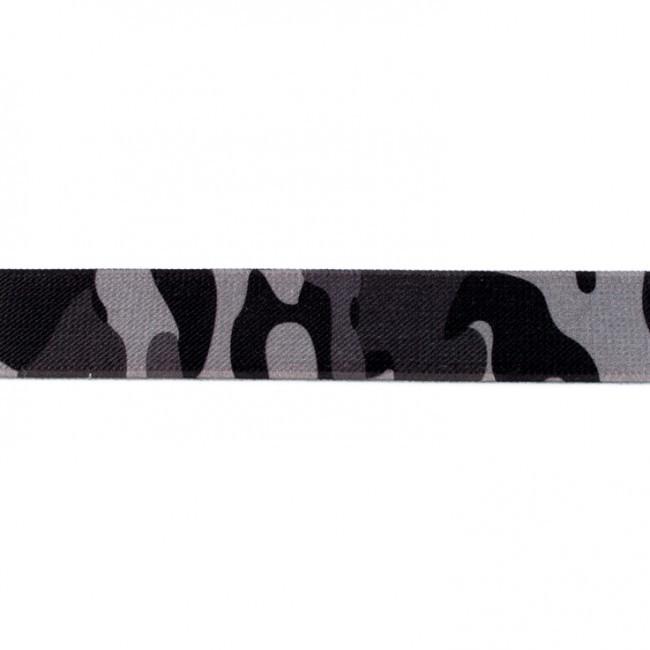 Gummi Band Camouflage Tarn grau Breite: 2,5cm