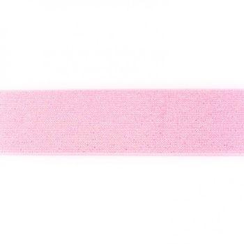 Gummi Band Glitzer rosa Meterware Breite: 5cm