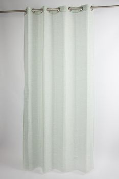Fertiggardine Fertigvorhang Ösenschal mit Metallösen enge Streifen grün 145x245cm – Bild 5