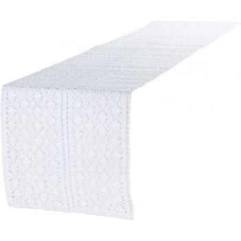 Tischläufer Mirthe Häkel weiß 30x140cm