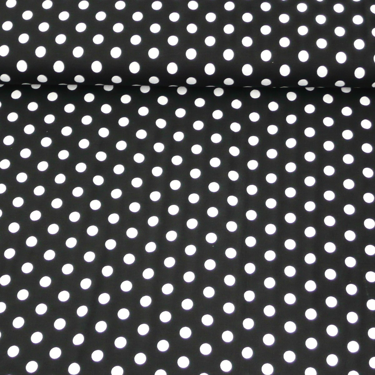 jersey viskose schwarz wei punkte gro stoffe stoffe gemustert stoff punkte. Black Bedroom Furniture Sets. Home Design Ideas