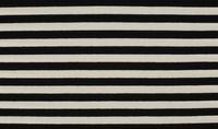 Jersey Stoff Streifen breit 1cm schwarz weiß