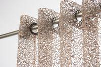 Fertiggardine Ösengardine Gitter taupe 140x250cm