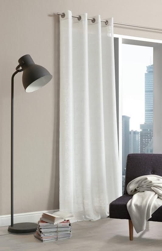 senschal fertiggardine scandia leinenoptik wollwei. Black Bedroom Furniture Sets. Home Design Ideas
