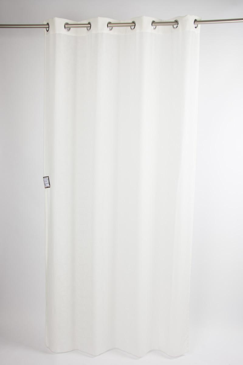 senschal fertiggardine scandia leinenoptik wollwei 245x137cm inspirationen stilwelten. Black Bedroom Furniture Sets. Home Design Ideas