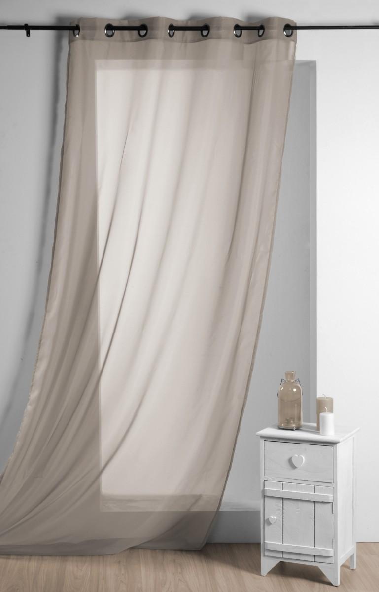 fertiggardine sengardine einfarbig voile hellbraun 135x260cm gardinen fertiggardinen senschals. Black Bedroom Furniture Sets. Home Design Ideas